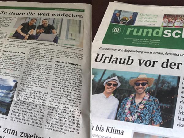 PR-Arbeit mit Urlaubsfeeling: Curicosmo schon wieder auf Titelblatt